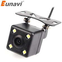 Eunavi Rear View Camera Waterproof Full HD CCD Car Rear Camera 4 LED Night Vision Car Parking Assistance Parktronic Camera(China)