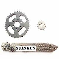 אביזרי אופנוע המכונית ביץ 'XUANKUN טרקטורונים ארבעה גלגל סבבת אחורי אחורי צלחת שן חגורת הילוך שרשרת