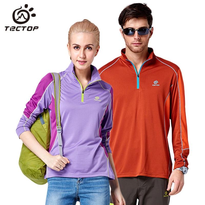 Tectop Anti-Uv Breathable Quick Dry T-shirt Men Women Outdoor Trekking Cycling Sport T-shirts Climbing Fishing T Shirt,AM067