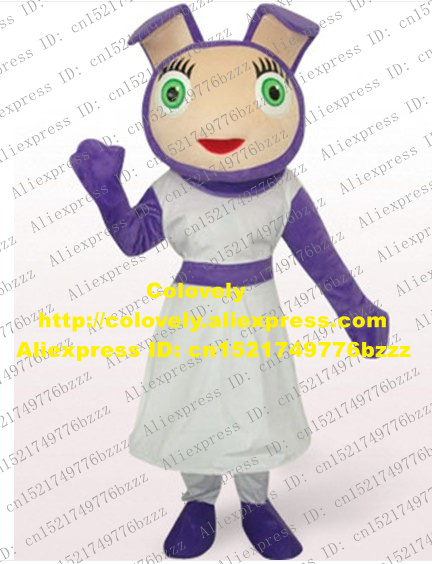 Cute Purple Waybuloo Lau Lau Rabbit Mascot Costume Mascotte Bunny Hare Lepus Adult With Long Ears Green Eyes No 2628 Free Ship Costume Mascot Adult Adult Adultadult Bunny Costume Aliexpress