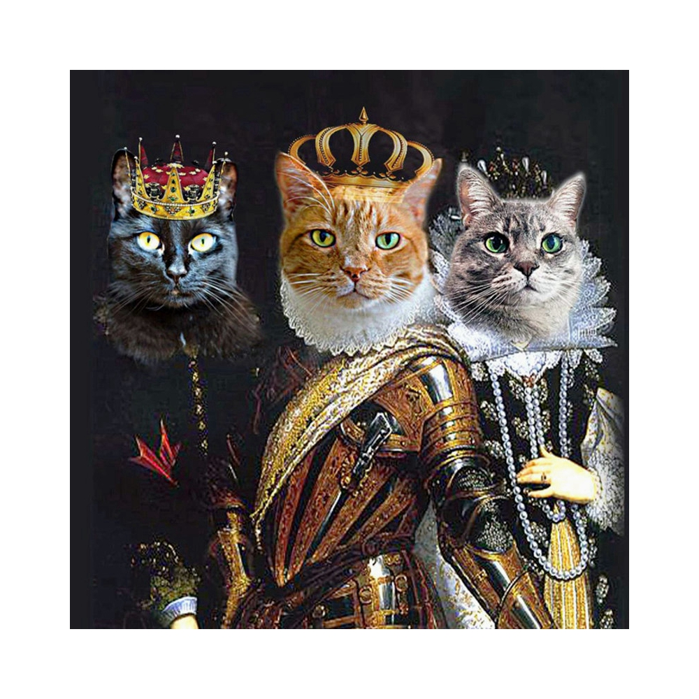DIY 5d diamond embroidery Cat King needlework mosaic picture of rhinestones hobbies Diamond Embroidery animal decoration EI079