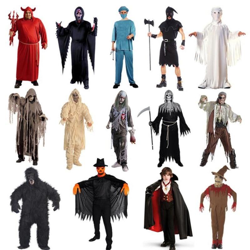 los hombres adultos y mujeres hallomas cosplay disfraces ropa terrorista fantasma dead zombie de halloween fancy
