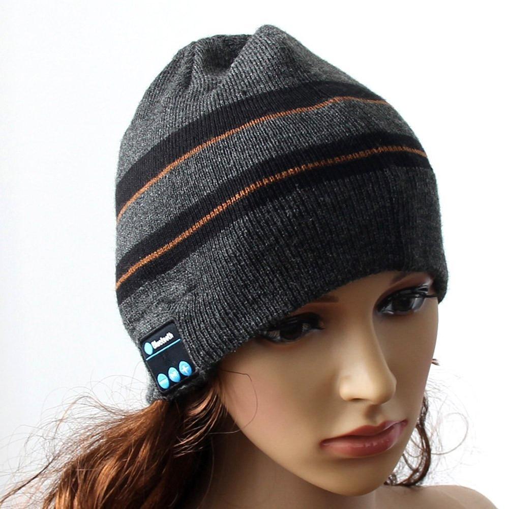 Wireless Bluetooth Smart Cap Headset Hands Free Phone Music Headphone Dual Warm Beanie Hat Caps Earphone Headband for Winter