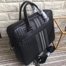 가죽 가방 서류 가방 꼰 가방 남자 비즈니스 가방 핸드백 서류 가방 남자 소 가죽 Embr oidery 서류 가방 서류 가방 비즈니스 가방