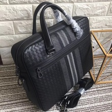 leather bag briefcase braided bag Mens business bag Handbag briefcase men cowhide  Embr oidery Briefcase briefcase Business bag