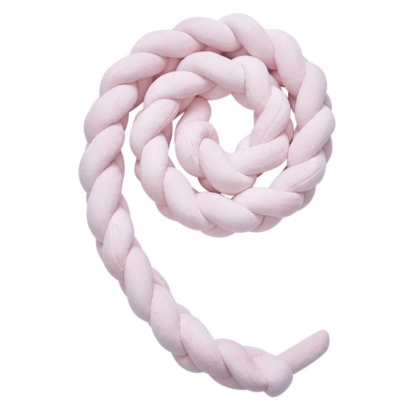 Ins Nordic Plush Stuffer Long Knotted Braid Pillow Baby Crib Bumper Cushion Set Plush Knot Pillow BabyS Room Decoration
