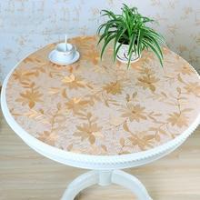 Домашняя Кухня Водонепроницаемый маслостойкий обеденный прозрачный Анти ожога Мягкий стеклянный круглый из пвх покрытие коврик Салфетка скатерть на стол