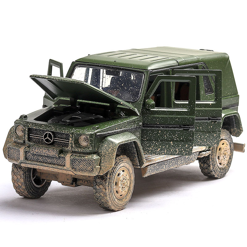 (Boxed) Mercedes-Benz G650 Alloy Car Model G-class Off-road Vehicle Suv To Do The Old Version Of The Car Model