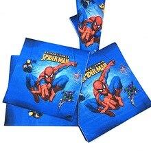 20pcs/lot Spiderman Paper Napkin Cartoon Party Favors Kids Happy Birthday Baby Shower Decoration Supplies Serviette Tissue