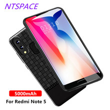 NTSPACE Extended Phone Battery Power Case For Xiaomi Redmi Note 5 Bank 5000mAh External Charger