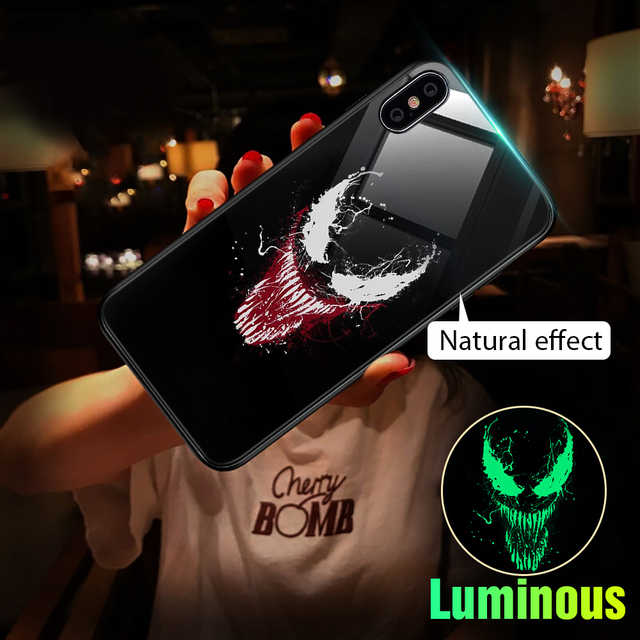 Marvel Venom Glass Case For iPhone6 S 6S Plus 7 8 Plus X XS MAX XS