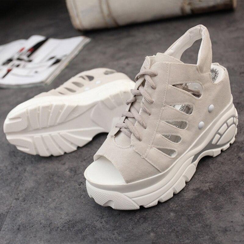 Confortables Occasionnels gris Chaussures Compensées 2018 Nouveautés Sandales slip Sport Plate Non D'été Noir forme rose Femmes x8w06YqW