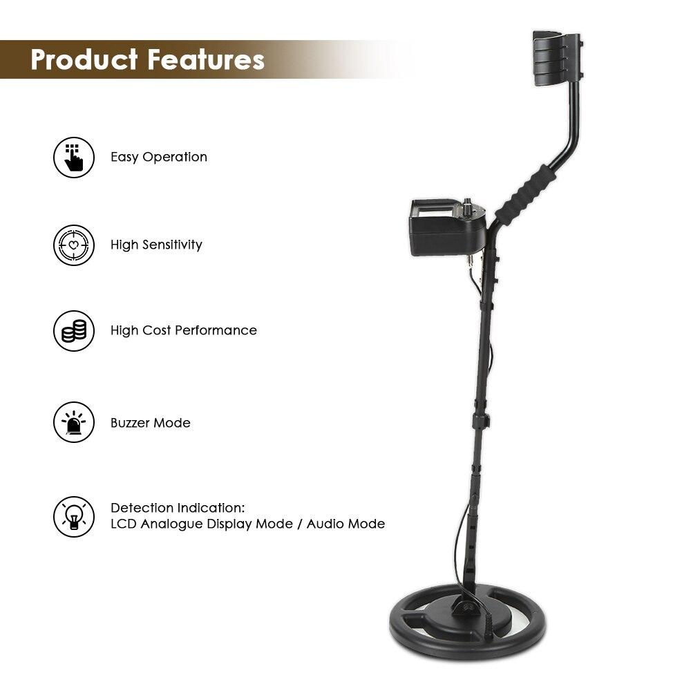 100-240 V détecteur de métaux souterrain or Digger testeur pour l'exploitation minière trésor chasseur Scanner outil de numérisation + écouteur Buzzer
