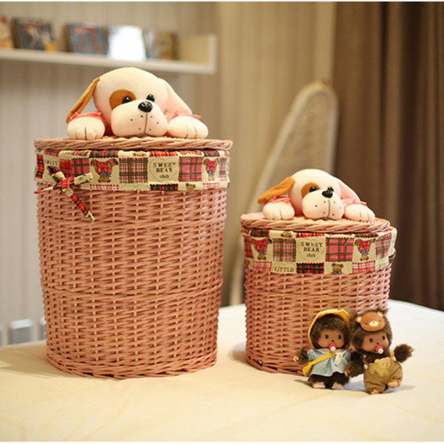 Round wicker basket organizer for Toys Clothes Neatening small-large-wicker- storage-baskets wicker laundry basket with dog lids & Online Shop Round wicker basket organizer for Toys Clothes Neatening ...