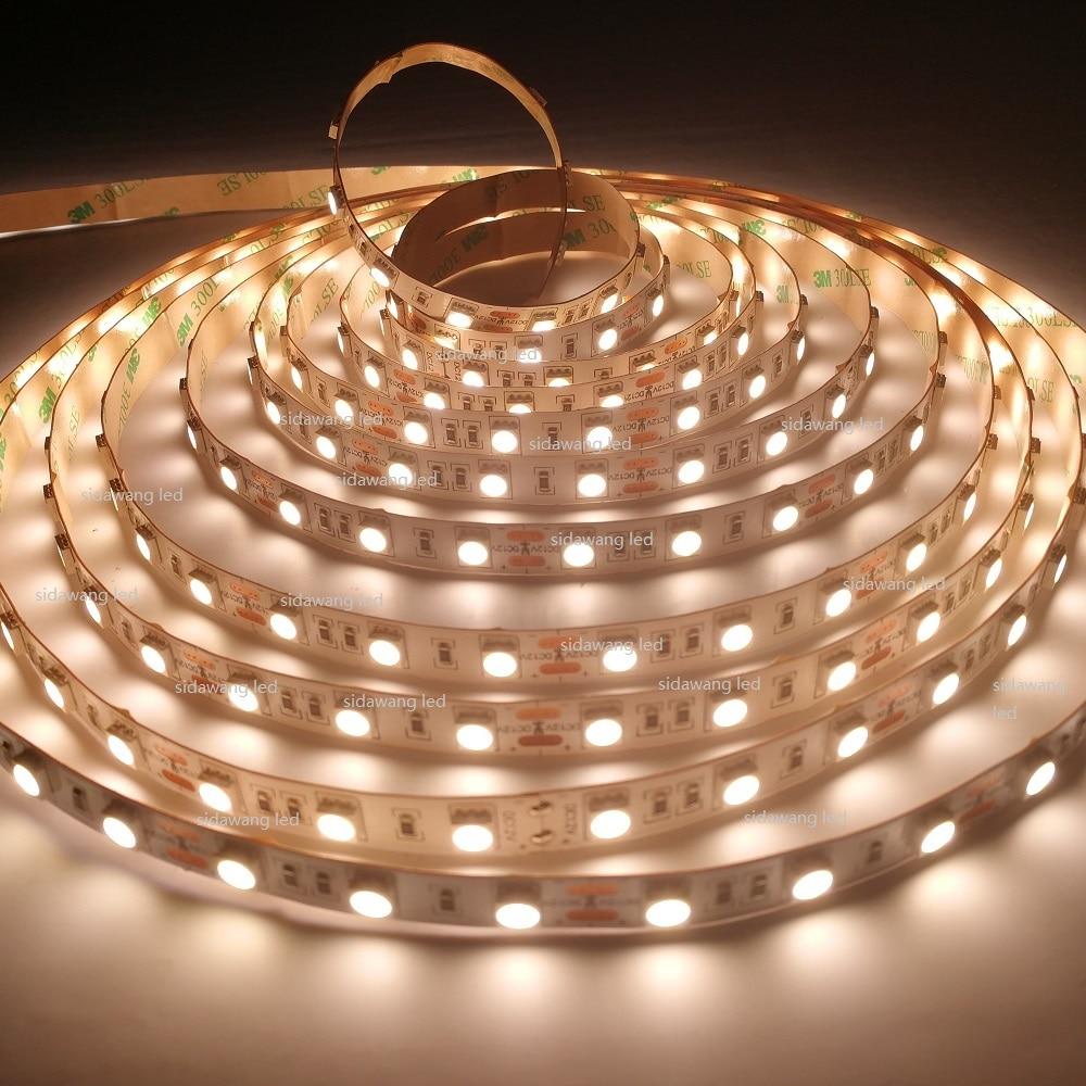CRI> 95 + Ra 高輝度 SMD5050 60 LEDS/メートル 2800 K 7500 K 、 led ストリップ 5050 ライト、 10 ミリメートル PCB 、 20 22lumen あたり Led  グループ上の ライト & 照明 からの LED ストリップ の中 1