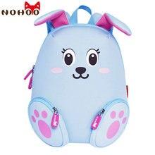 NOHOO Neue Ankunft Tiere Kinder Baby Taschen Wasserdicht Kindergarten Kaninchen Schultaschen Für Mädchen Cute Cartoon Schultaschen Blue-23