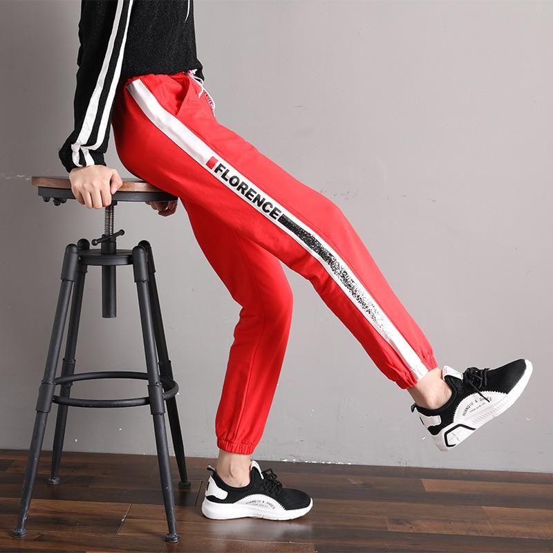 Ocio Otoño Nueva Hiphop Suelta Pantalones Haren Lang Mujer Ventilador Un 2018 Deportes Pantalones Chica De Moda OYRcxqw