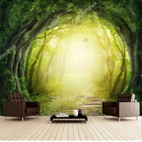 Custom Papel De Parede Infantil Magic Black Forest Road 3D Fantasy Wallpaper For Children S Room