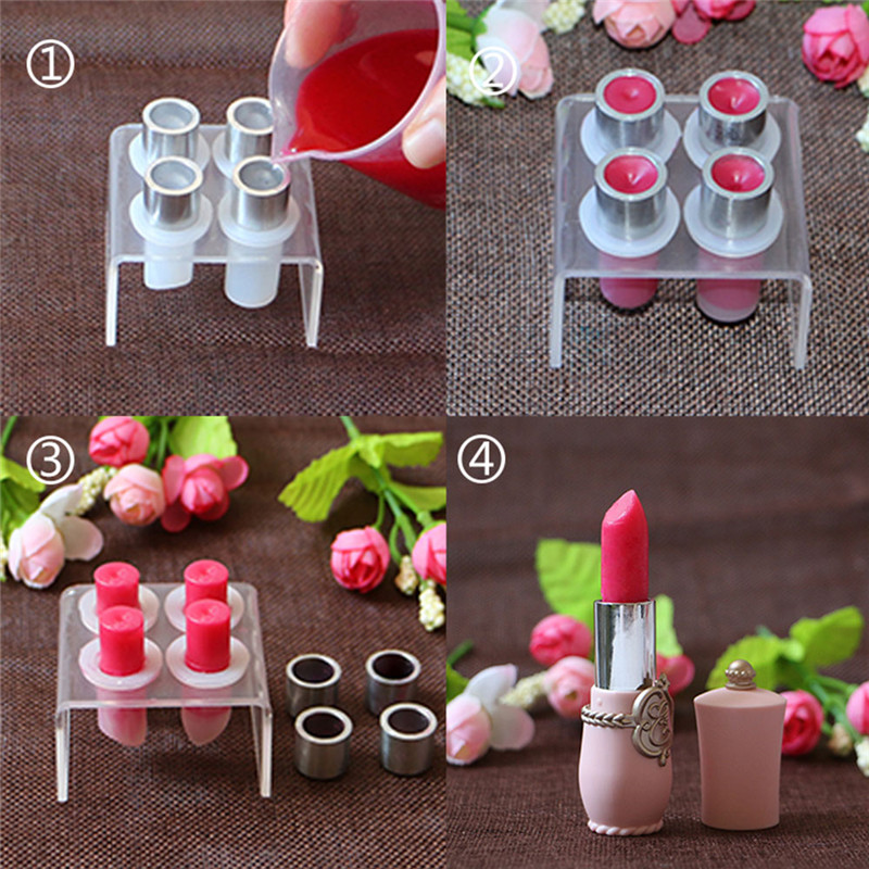 New Lipstick Diy Mold Makeup Handmade Lip Balm Mould Crafts Tools Kit Silicone
