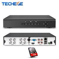 Techege 4CH 8CH AHD H DVR 1080P Recording Security DVR HDMI 1080P Hybrid CCTV NVR HVR