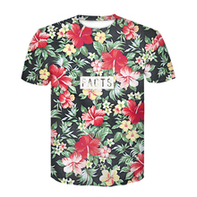2018 New Beautiful Flowers Print T shirt For Men Women Summer Tees Quick Dry 3d Tshirts