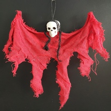 Creepy Skeleton Face Skull Head Hanging Ghost Decoration Horror Haunted House Halloween Props Supplies hot sale giant horror bending inflatable halloween skull hanging head skeleton for party decoration page 8 page 3