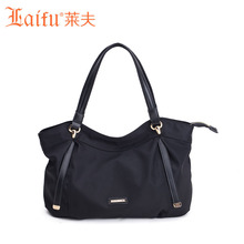 Laifu Original frauen Handtaschen Große Umhängetasche Dame Tasche Nylon Weichen Trage Europa Amerika Stil Schwarz Violett
