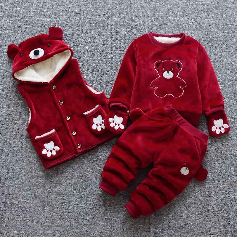 BibiCola baby girls boys clothing set cartoon 2018 winter infant children wear cotton casual tracksuits kids clothes sports suit bibicola kids baby clothing set for boys