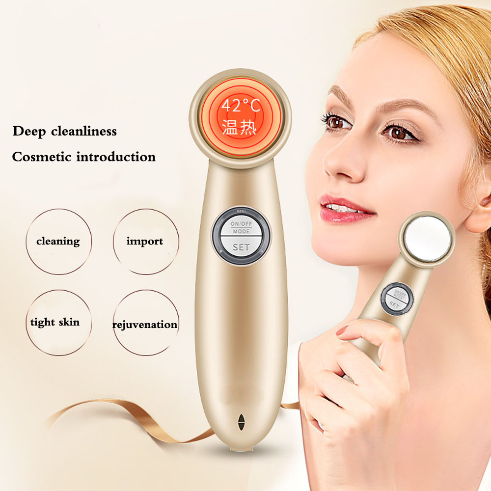 Household Electric Detoxification Deep Cleanser Facial Massage Instrument Beauty Import Ionic tender skin beauty device 628 a ultrasound ultrasound import and export cosmetic instrument face detoxification apparatus tender skin wrinkles