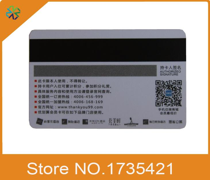 2000pcslothole punched custom glossy plastic business card name 2000pcslothole punched custom glossy plastic business card name card printingboth side print with magnetic strip in business cards from office school reheart Gallery