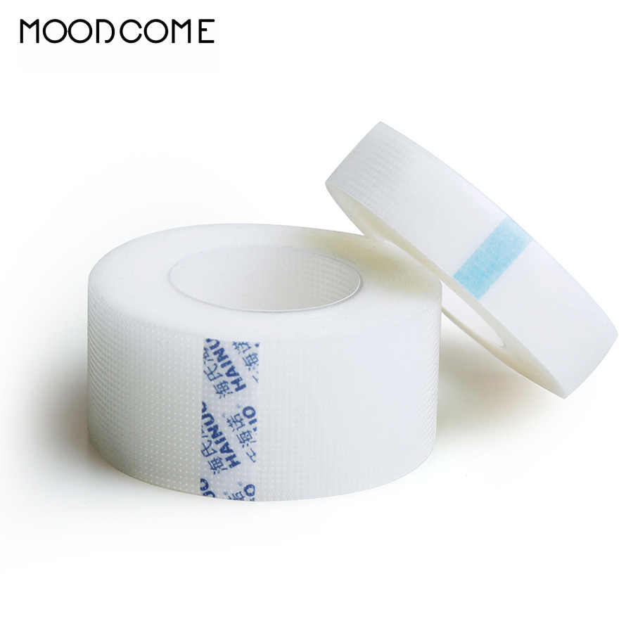 5 Pcs Medis Tape + Tape Pemegang PE Non-Breathable Woven Tape Ekstensi Bulu Mata Supply Tape Alat Make Up Alat kertas untuk Bulu Mata