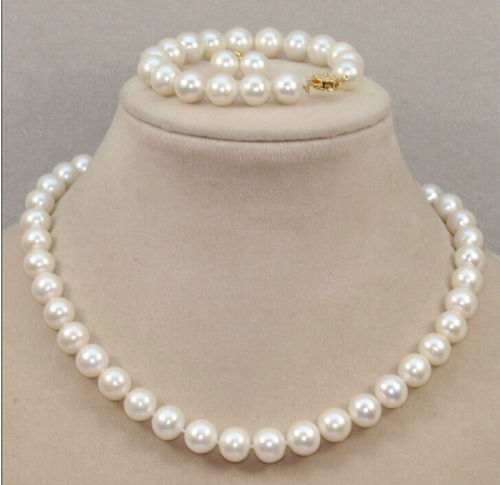 Free shipping 655 CLASSIC 10-11mm south sea round white pearl necklace Bracelet Earring Free shipping 655 CLASSIC 10-11mm south sea round white pearl necklace Bracelet Earring