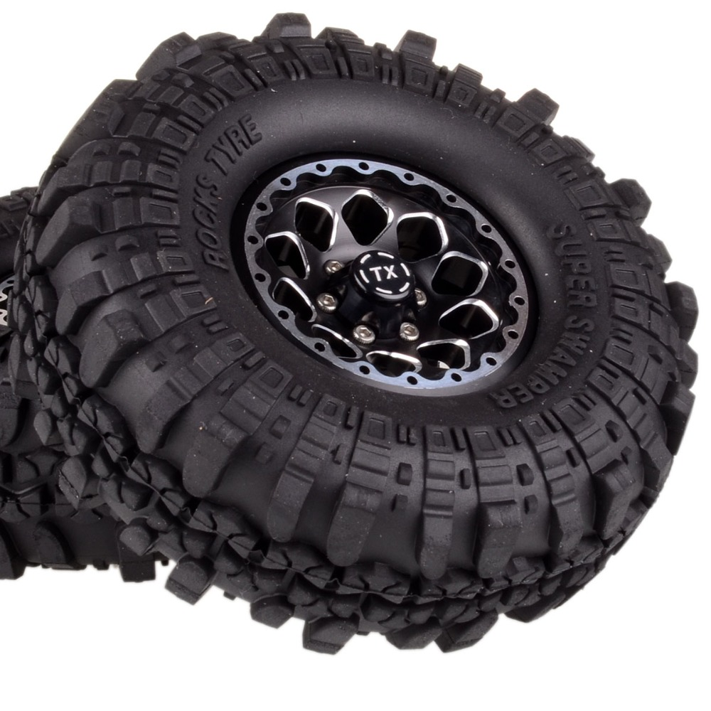 1065-7035 1.9 Metal Rock Crawler Wheel/Rim &Tyre 110mm 4 For RC 1/10 Axial Tamiya