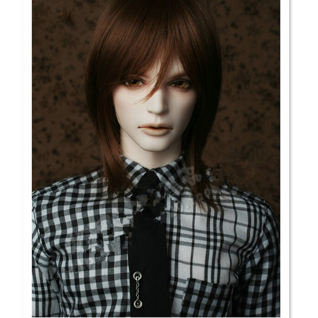 1/4 SD BJD Doll Wig High Temperature Wire Short BJD Super Dollfile Hair Wigs for Dolls,Attractive Design Synthetic Doll Hair