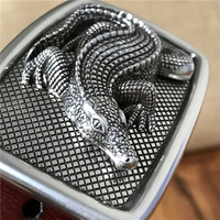 Crocodile Belt Buckle Thick Leather Luxury Men Belt Ceinture Homme Designer Belts Men High Quality Men's Belts MBT0481