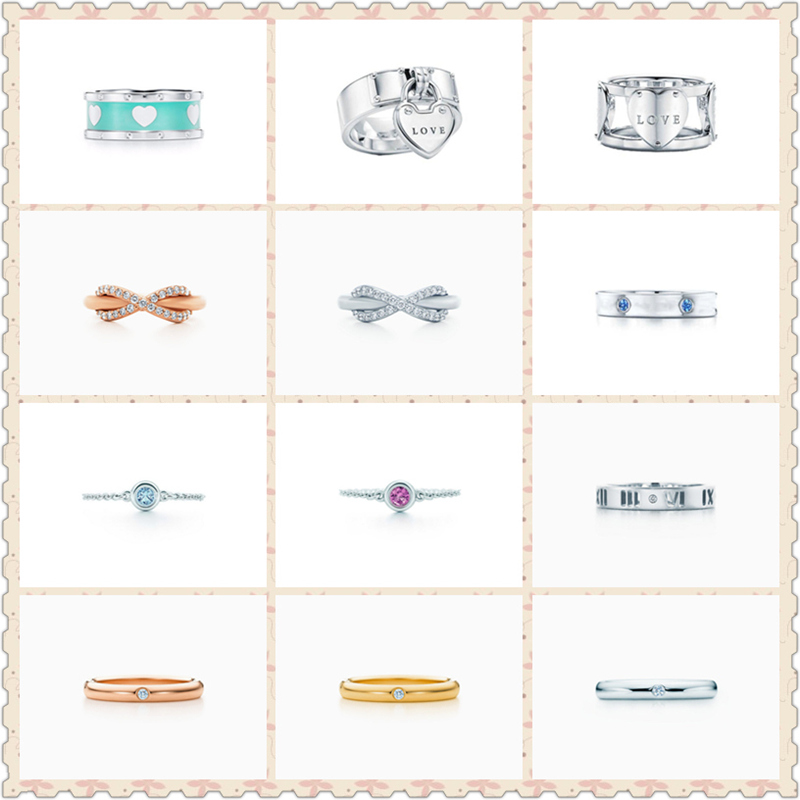 SHINETUNG Original 100% S925 Sterling Silver Heart-Shape 8 Font Zircon Inlay Trendy Rings Women Logo Romance High-End Jewelry