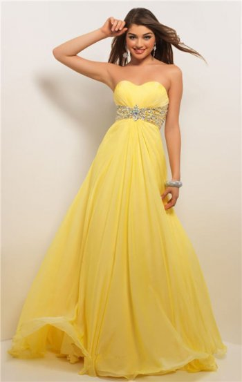 Stock Vestidos Prom Dresses A Line Chiffon Sweetheart Prom Dress