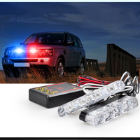 High Power 2x4 Led DC 12V Strobe Warning Light Car Truck Light Flashing Firemen Lights Ambulance