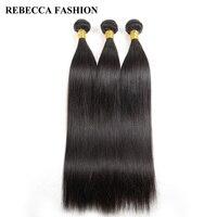 Rebecca Malaysian Virgin Hair 3 Bundles Straight Weave Human Hair Bundles 300g 10 28 inch unprocessed Hair Extensions