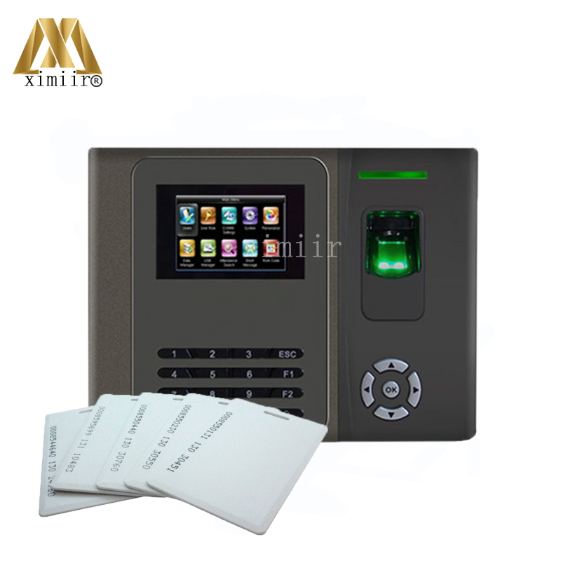 Biometric Fingerprint Time Attendance With RFID Card And Back Up Battery High Quality Time Attendance Time Clock With ADMS