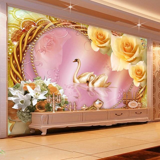 European Style Luxury Interior Decor Wall Murals Wallpaper 3D Stereo ...