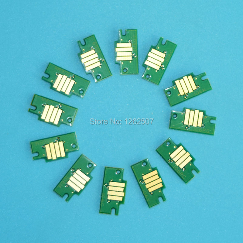 12Colorset MBK/BK/GY/PGY/C/M/Y/PC/PM/R/G/B PFI-101 Replcement Ink Cartridge Chip For Canon imageprograf IPF5000 Printer