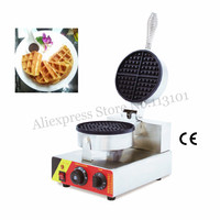 Nonstick Waffle Maker Commercial Round Waffle Machine 1000W 220V 110V with Thermostat and Timer