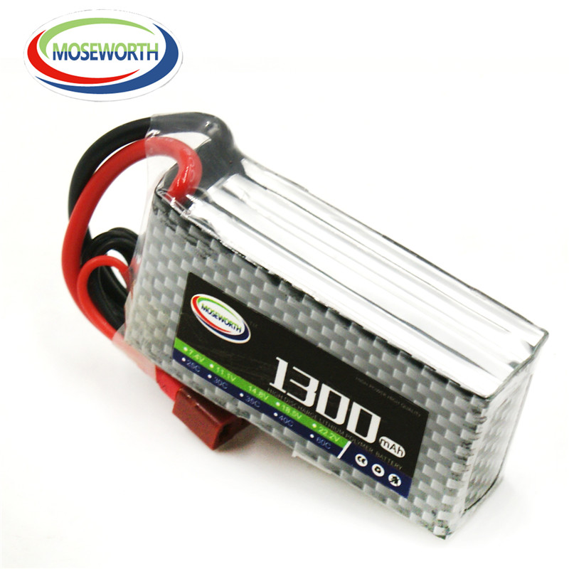 4S RC LiPo Battery 14.8v 1300mAh 40C For rc helicopter rc car rc boat quadcopter Li-Polymer battery Free shipping MOSEWORTH mos 6s lipo battery 22 2v 1300mah 35c for rc helicopter rc car rc boat quadcopter li polymer battey free shipping
