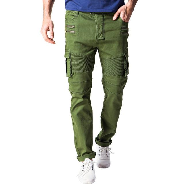 a9feb8383f Nuevos pantalones Cargo hombres marca bolsillos Pantalon Homme Casual  cremallera Slim Fit táctico pantalones militares ejército