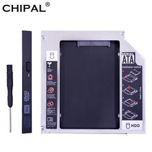 "CHIPAL Original Foxconn Chip PATA IDE a SATA 3,0 12,7mm 2nd HDD Caddy para 2,5 ""SSD HDD caso carcasa para ordenador portátil CD-ROM óptico(China)"