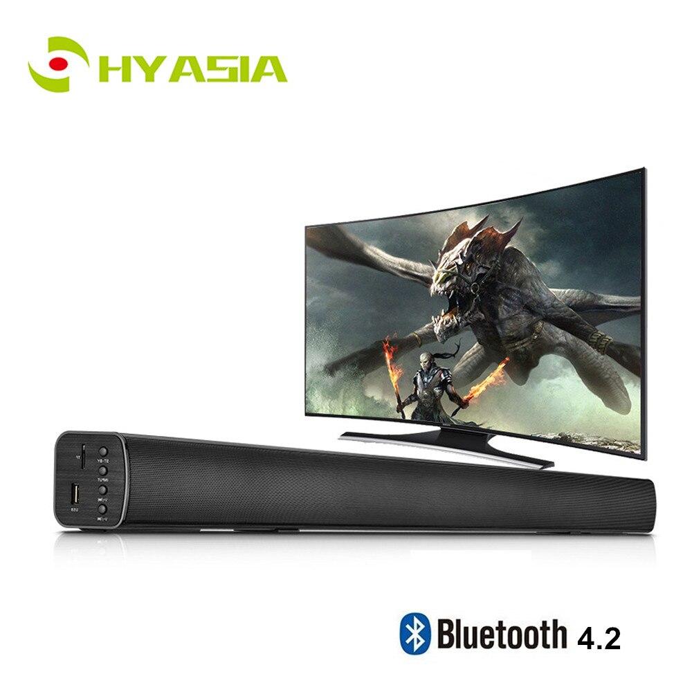 Bluetooth 4.2 Wireless Soundbar Speaker Audio Home TV Surround Sound Bar AUX// TF