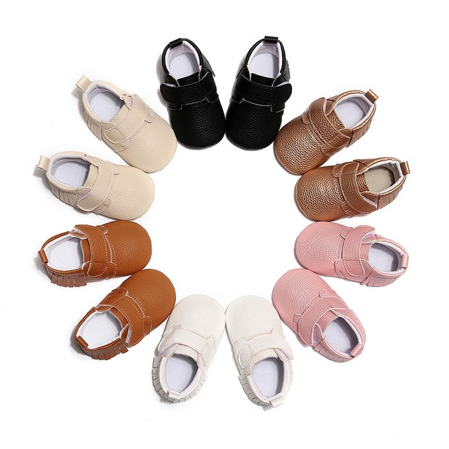2018 Fashion designer  boys girls leather kids shoes for boys girls kids c Cute Solid Tassel First Walkers Casual Shoes #QJ