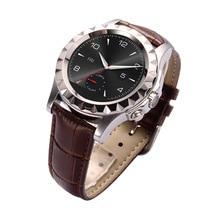 Leder Smartwatch 1,22 «Touchscreen Bluetooth 3,0 Pulsmesser Temperaturüberwachung Schrittzähler PSG Sitzende Smart Uhr