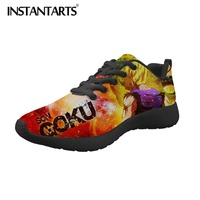 INSTANTARTS Men Casual Shoes Dragon Ball Z Men's Sneakers Anime Super Print Boy Mesh Shoes Saiyan Son Goku Flats Trainer Shoes